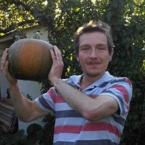 Me and one of last year's pumpkins!