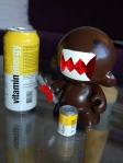 domokun with energy drinks