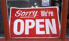 Sorry, We're Open by marsupialrobot