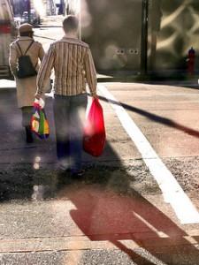 bright and shiny sacks of shopping