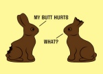 Unlucky chocolate bunnies