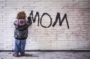 Mom graffiti